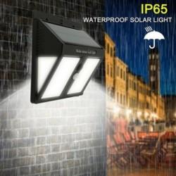 146 LED napelemes PIR mozgásérzékelő fali lámpa kültéri kerti út biztonsági lámpa
