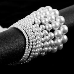 Fehér318mm akril kerek olívaolaj laza gyöngy gyöngy DIY ékszer készítés nyaklánc karkötő fülbevaló kiegészítők