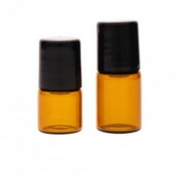 1 vagy 2ml 2DB Borostyánsárga kis üvegcsöpögő palackok az illóolaj mintavételéhez