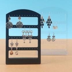 24 lyukú ékszerszervező állvány fekete műanyag fülbevalótartóval divat fülbevaló