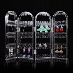 Ékszer nyaklánc fülbevaló fülcsavar átlátszó állvány kijelző szervező tartó megjelenítése Rack 240 lyukak
