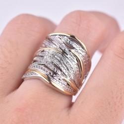 Vintage több soros cirkon gyűrűvel töltött High Street stílusú gyűrűk női divat ékszer ajándék