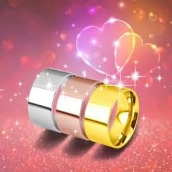 10 mm ezüst / arany / rózsa arany zenekar rozsdamentes acélból készült női férfi eljegyzési gyűrű