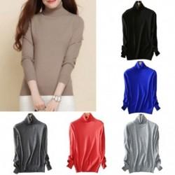 Női pulóver elaszticitás gyapjú kasmír jumper női vékony kötött kényelmes pulóver