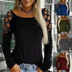 Női alkalmi blúz Női, hosszú ujjú, felső női ruha póló