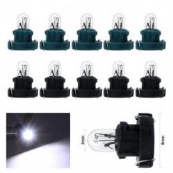 10 db T3 LED 12V 1.2W-os autóautó belső műszerfal izzó műszerfallámpa