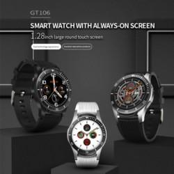GT106 intelligens karóra 1.28 - teljes képernyő érintőképernyős pulzusmérő Hívás emlékeztető sport fitneszóra