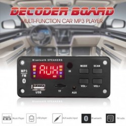 Vezeték nélküli Bluetooth dekóder panel Car Audio Modul USB TF FM rádió 5V 12V MP3