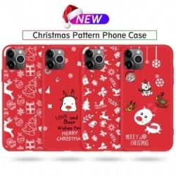 Karácsonyi telefontok iphone 11 Pro Max ütésálló tok, TPU szilikon tok