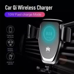 Gyors Qi autós vezeték nélküli töltő autós telefontartó iPhone XS Max XR X Samsung S10 S9 intelligens vezeték nélküli