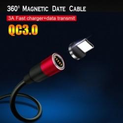 Mágneses USB-kábel a C 3A típusú gyors töltő adatkábel, QC3.0, a Huawei Xiaomi Samsunghoz