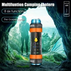 Többfunkciós USB újratölthető LED kempinglámpa IPX8 vízálló túrázás horgászatra Autófelügyelet Munkafényszóró