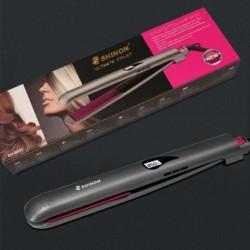 Tekercselje az egyenes hajvasalót Hajdual funkciós hajformázó turmalin kerámia lapos vas frizura eszköz