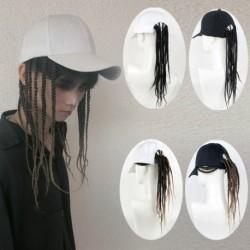Baseball sapka zsinór paróka hamis haj fekete hip-hop rock szép unisex természetes élethű Toupee