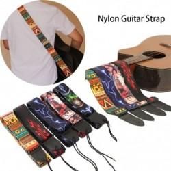 Nejlon gitárszíj akusztikus elektromos gitárhoz és basszusgitárhoz Több színű gitárszíj állítható színes