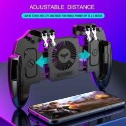 Mobiltelefon játékvezérlő Joystick hűtőventilátorral Gamepad PUBG Android IOS X készülékhez