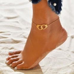 Új divat Egyszerű bilincs karkötők divatos lábbeli ékszerek női ékszer ajándék