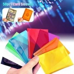 50 db átlátszó színes kártya ujjú, varázslatos társasjáték Tarot pókerkártya védőtáska, 65x90mm