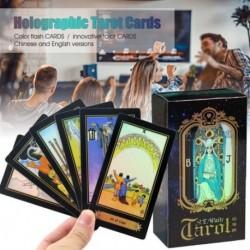 78 db Holografikus Tarot kártyák Táblajáték Shine kártyák Teljes angol nyelvű kiadás az asztrológus otthoni