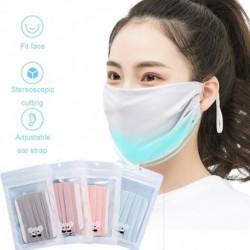 Állítható fülvédő maszk Jég selyem pamut újrahasznosító fényvédő pormentes ködbiztos maszk nyárra