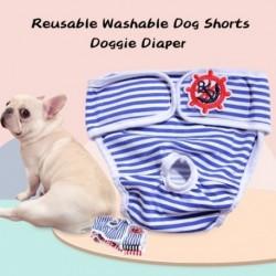 Több méretű kisállat kutya pamut rövidnadrág pelenka egészségügyi élettani nadrág Mosható női rövid bugyi