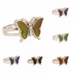 Kreatív pillangó, állítható gyűrűs hőmérséklet-érzékeny színváltás, gyűrűs ékszer ajándék