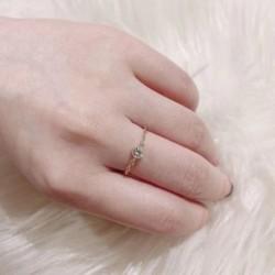 Divat Egyszerű elegáns cirkon gyöngy gyűrűvel állítható lánc gyűrűvel női ékszer ajándék