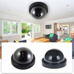 Házbiztonsági hamis kamera Vezeték nélküli szimulált videófelügyelet beltéri / kültéri Dummy Dome kamera villogó