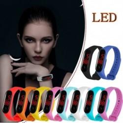 LED-es elektronikus óra TPU szíjjal divatos hallgatók számára, Sport ajándék digitális karóra