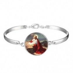 Jézus keresztény üveg karkötők nők számára ékszer karkötő nagykereskedelme * 899