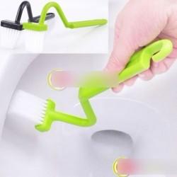 1 DB Hordozható WC-kefe súroló V-típusú tisztító Kényelmes fogás könnyű haszálat
