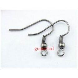 fegyverszín - 2000db / tétel Divatos vas fül kampós drótkapocs gyöngyöt fülbevalókkal, fülbevalóval (8 stílus)