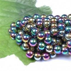 Metallic Multi-Colored - Természetes drágakő kerek kő laza gyöngyök tétel 4mm 6mm 8mm 10mm barkács ékszerek
