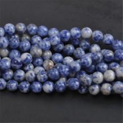 Blue Spot - Természetes drágakő kerek kő laza gyöngyök tétel 4mm 6mm 8mm 10mm barkács ékszerek készítése