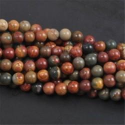 Picasso - Természetes drágakő kerek kő laza gyöngyök tétel 4mm 6mm 8mm 10mm barkács ékszerek készítése