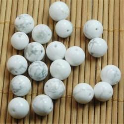White Turquoise - Természetes drágakő kerek kő laza gyöngyök tétel 4mm 6mm 8mm 10mm barkács ékszerek készítése