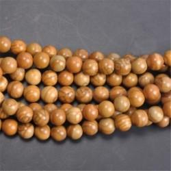 Woodgrain - Természetes drágakő kerek kő laza gyöngyök tétel 4mm 6mm 8mm 10mm barkács ékszerek készítése
