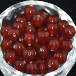 Red Agate - Természetes drágakő kerek kő laza gyöngyök tétel 4mm 6mm 8mm 10mm barkács ékszerek készítése
