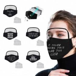 5db Unisex porálló fekete újrafelhasználható pamut arcpántos szemvédővel   10 szűrő