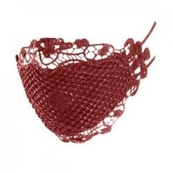 Bor vörös - Csipke kialakítás  pormentes, állítható lélegző száj MASZK