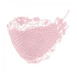 Rózsaszín - Csipke kialakítás  pormentes, állítható lélegző száj MASZK