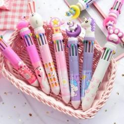 10 szín aranyos egyszarvú rajzfilm golyóstoll iskola  irodai kellékek írószer ajándék