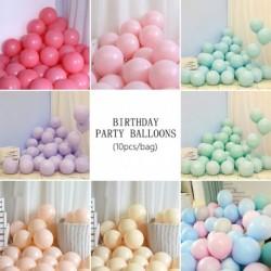 10db Macarons cukorka pasztell latex lufi születésnapi party léggömb esküvői baba zuhany party dekoráció