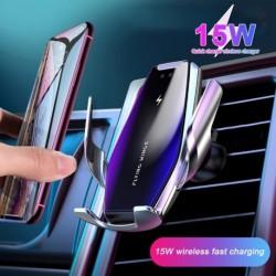 15 W autós vezeték nélküli töltő Qi gyors telefon töltő Eredeti töltő telefon tartó az iPhone 11 Samsung