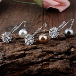 1db divat kreatív gyöngyvirág cirkóni bross gallér galléros női ruha kiegészítők ajándék