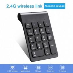 2,4 Gos vezeték nélküli mini digitális billentyűzet 18 billentyűvel USBs szám numerikus billentyűzet betét notebook