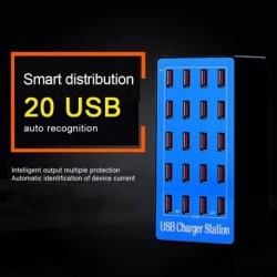 20 portos USB hub gyors töltőállomás hálózati adapter az iPhone X iPad készülékhez Huawei fali töltő USB