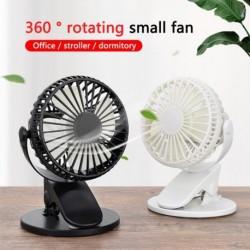 3 sebességes, 360 fokos USB újratölthető hűvös mini ventilátor klip asztali asztali ventilátor hordozható bilincs