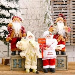 30 * 20 cmes kreatív Mikulásbaba karácsonyfa dísz újévi otthoni dekoráció Natal gyerek ajándék boldog karácsonyi