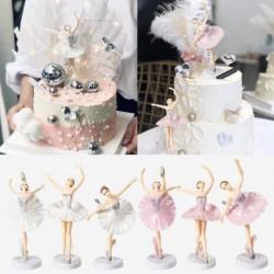 3db / készlet baletttáncos lánydíszek tortafelső születésnapi party dekoráció elegáns díszek alap torta